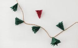 10分で完成!ラッピングペーパーを使ったクリスマスツリーの作り方