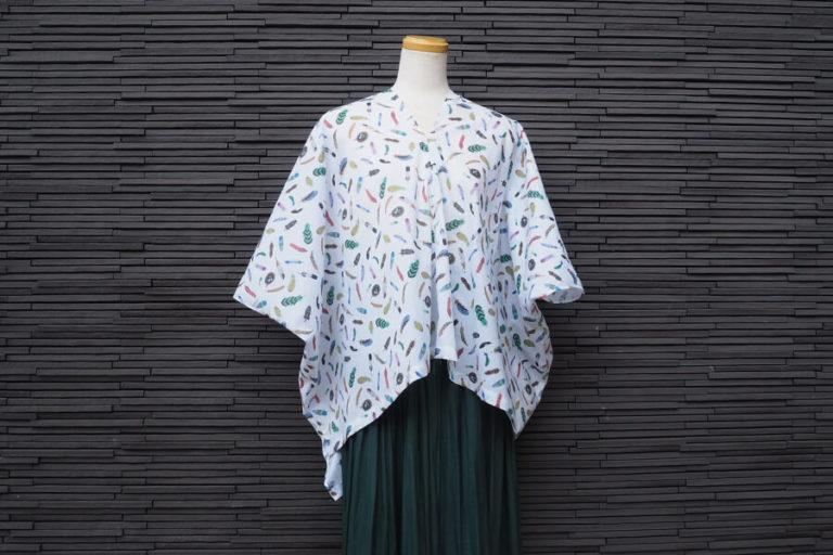【型紙不要】直線縫いで作れるカフタンブラウス