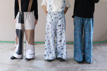 『ずっと好きな服。』(Quoi?Quoi?著/文化出版局)からサスペンダーワイドパンツを作ってみました!