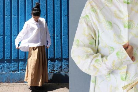 【パターンファブリック:(美濃羽まゆみさんデザイン)はじめての大人の白シャツ】で、柄シャツを作ってみました!
