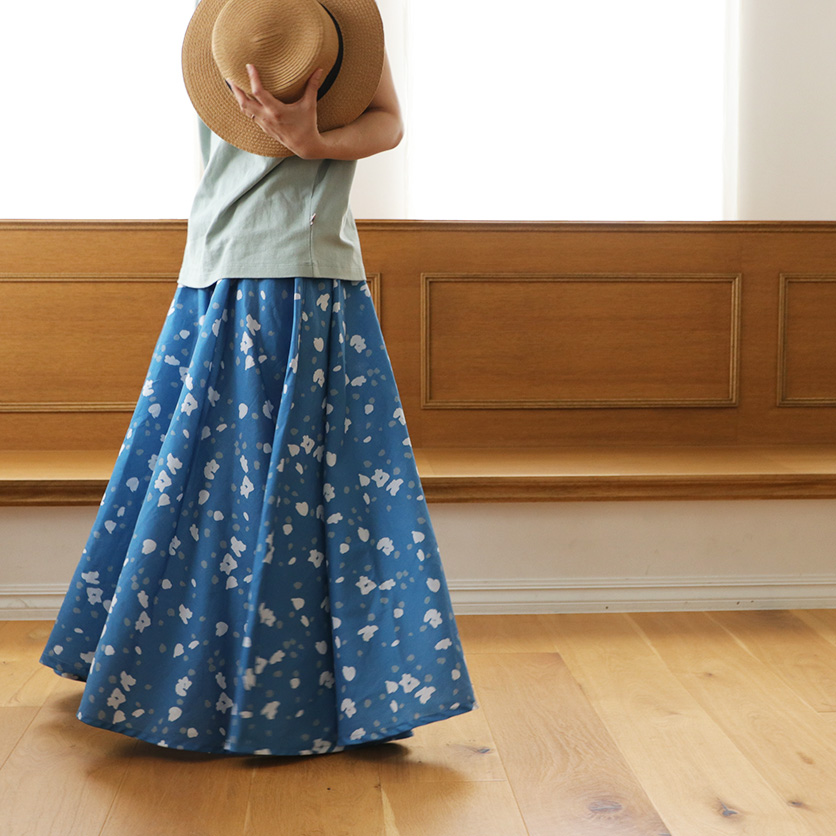【ホームソーイング型紙シリーズ】No.001_フレアマキシスカート