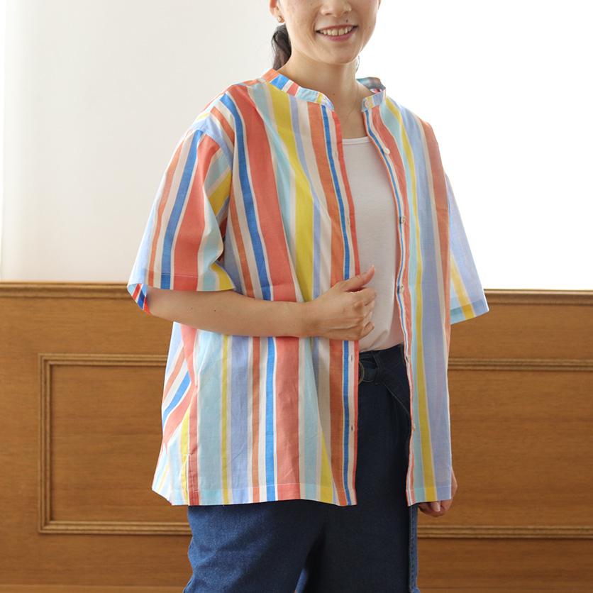 【ホームソーイング型紙シリーズ】No.002_オフネックスタンドカラーシャツ