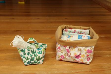 『暮らしの中の、手作り布小物』(美濃羽まゆみ著/家の光協会)から布バスケットを作ってみました!